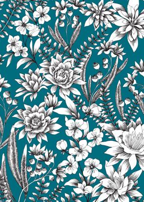 Motif Floral Mondial Tissus