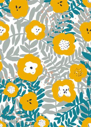 Motif Floral scandinave mondial tissus