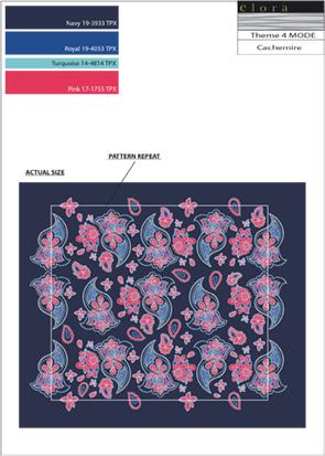 Motif Design Textile Unique en Serie Bureau de style Mode Cachemire
